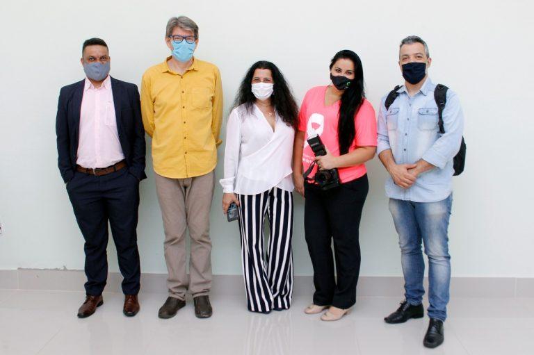 Marcos Andrade, Romualdo Cruz, Nilma de Oliveira Moratori, Mara Santos e Fernando